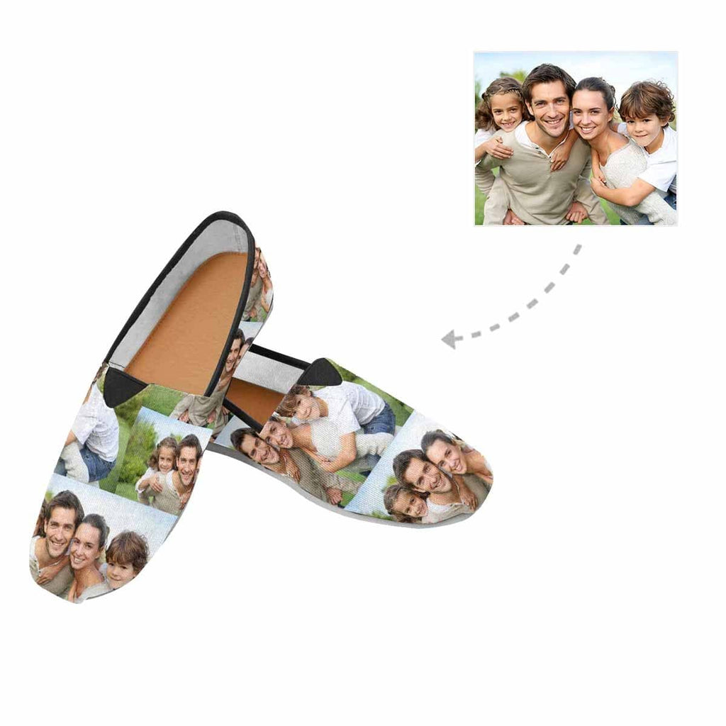 Custom Family Photo Casual Canvas Women's Shoes