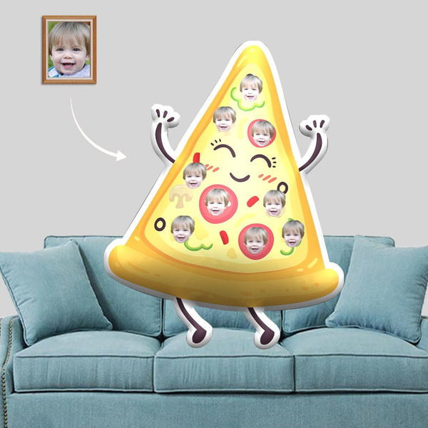 Custom Face Pizza Shaped Pillow