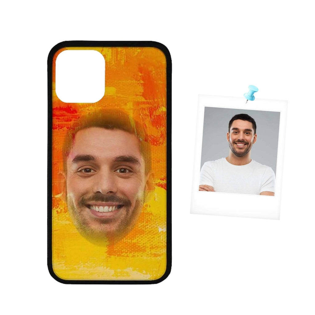 "Custom Face Orange Painting Rubber Case For Iphone 11 Pro(5.8"")/11 (6.1"")/11 Pro Max (6.5"")"