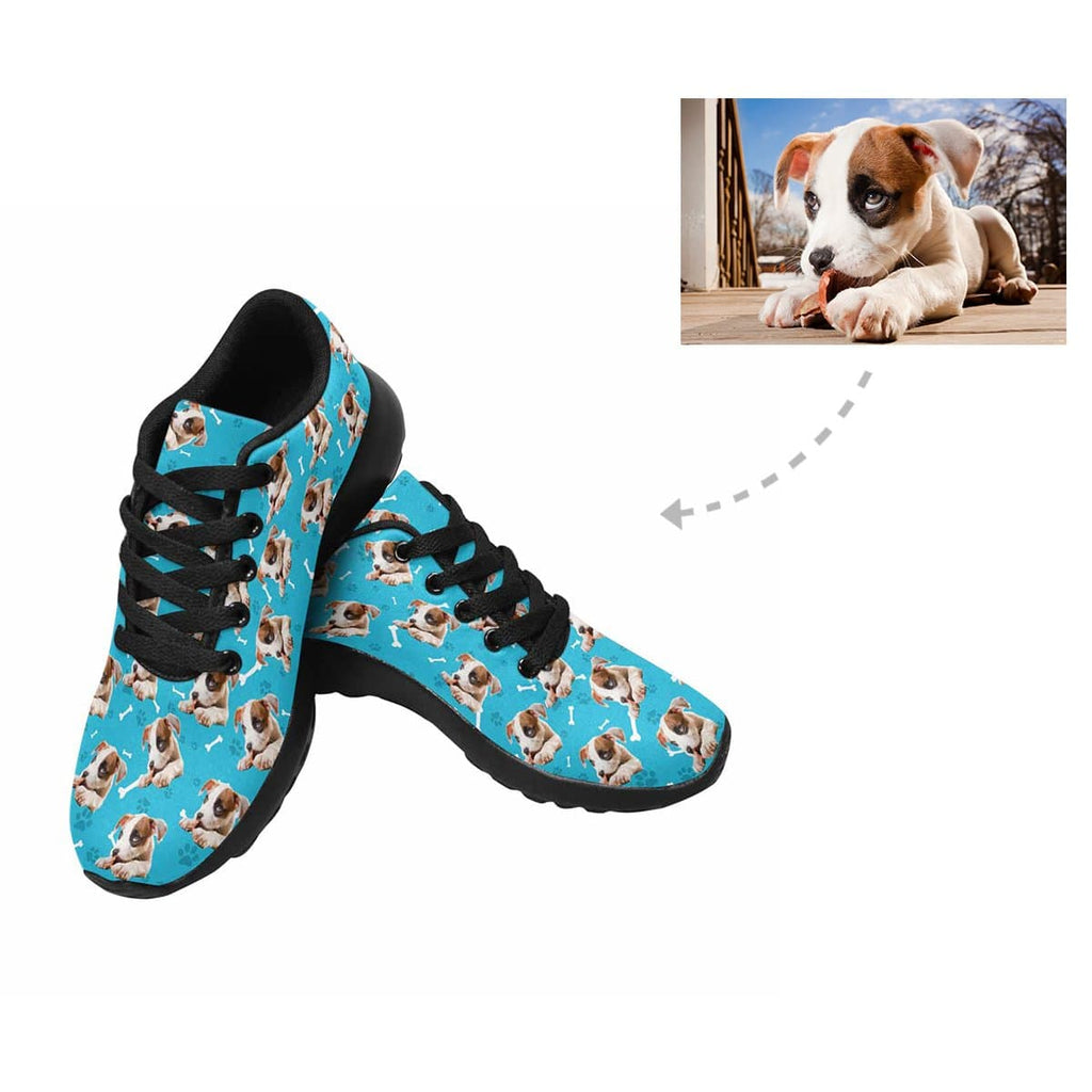 Custom Dog Paw and Bone Men's Sneaker