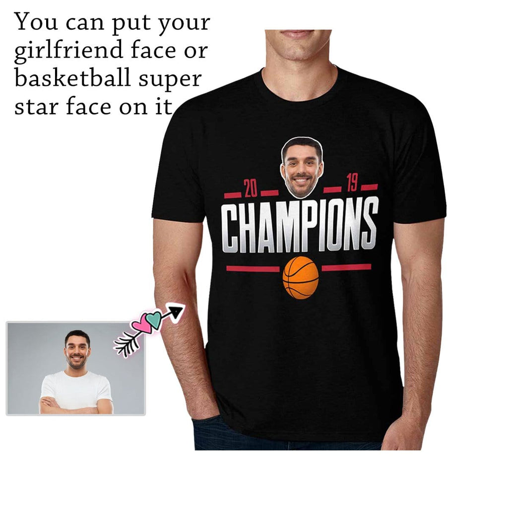 Custom Face Basketball Champions Men's All Over Print T-shirt