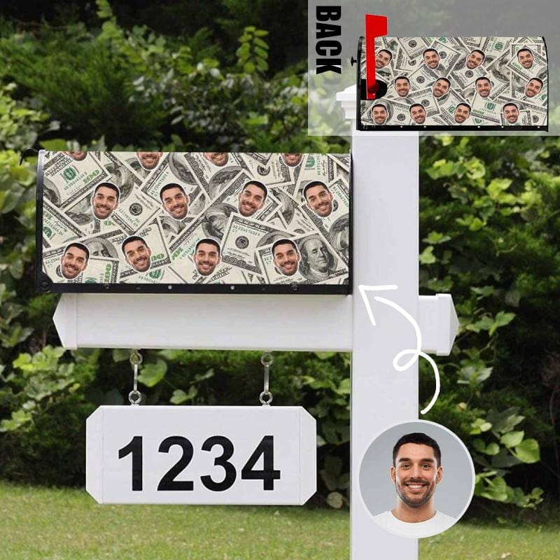 Custom Face Money Mailbox Cover