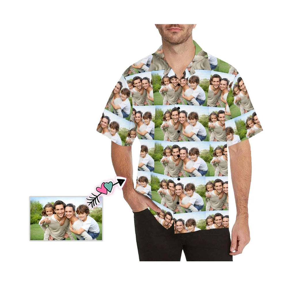 Custom Seamless Photo Men's All Over Print Hawaiian Shirt