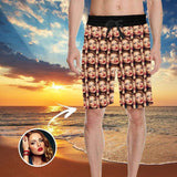 Custom Face All You Men's All Over Print Casual Shorts