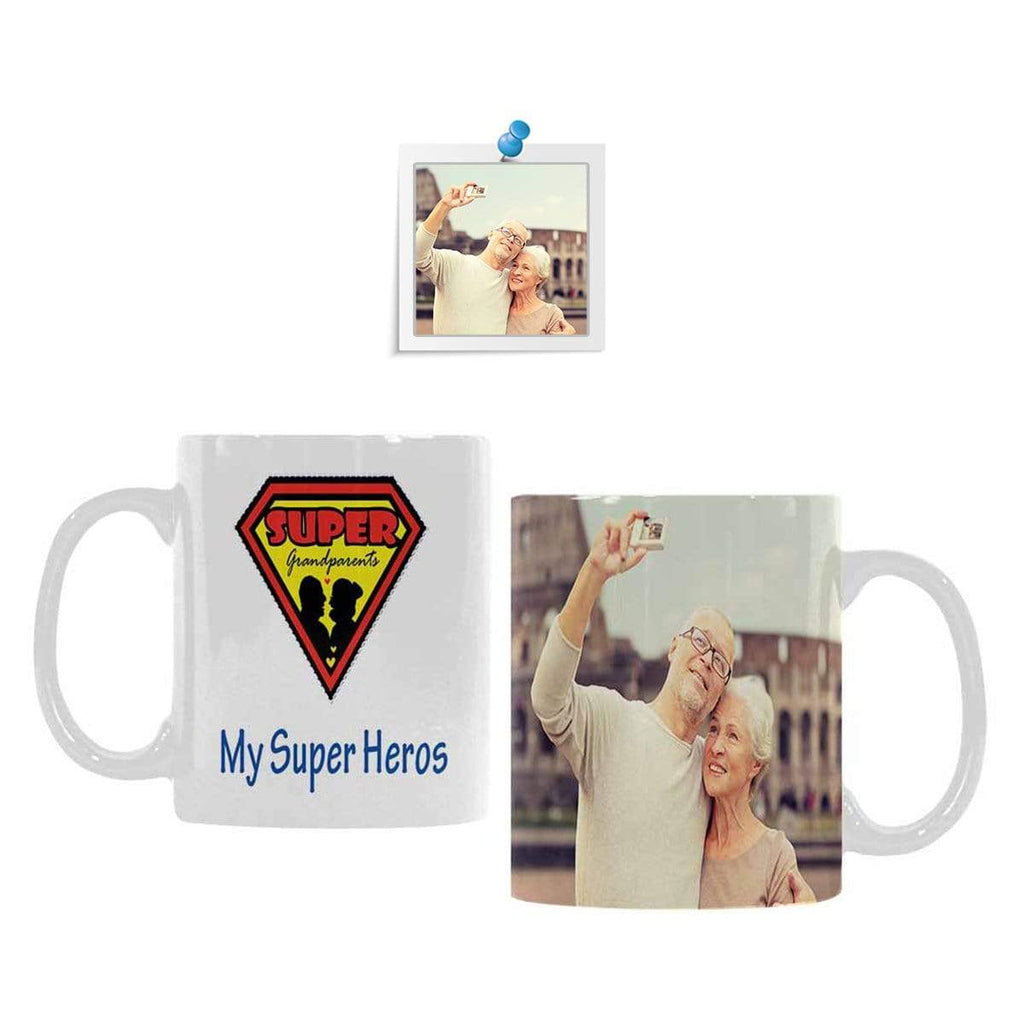 Custom Photo Super Grandparents Classical Mug