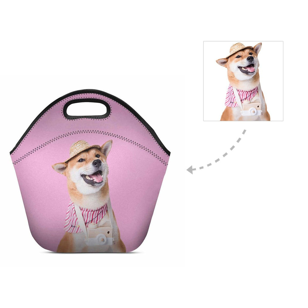 Custom Dog Face Neoprene Lunch Bag