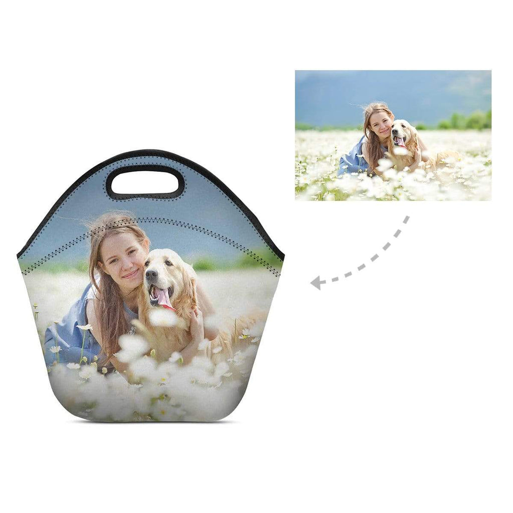 Custom Pet Lover Photo Neoprene Lunch Bag
