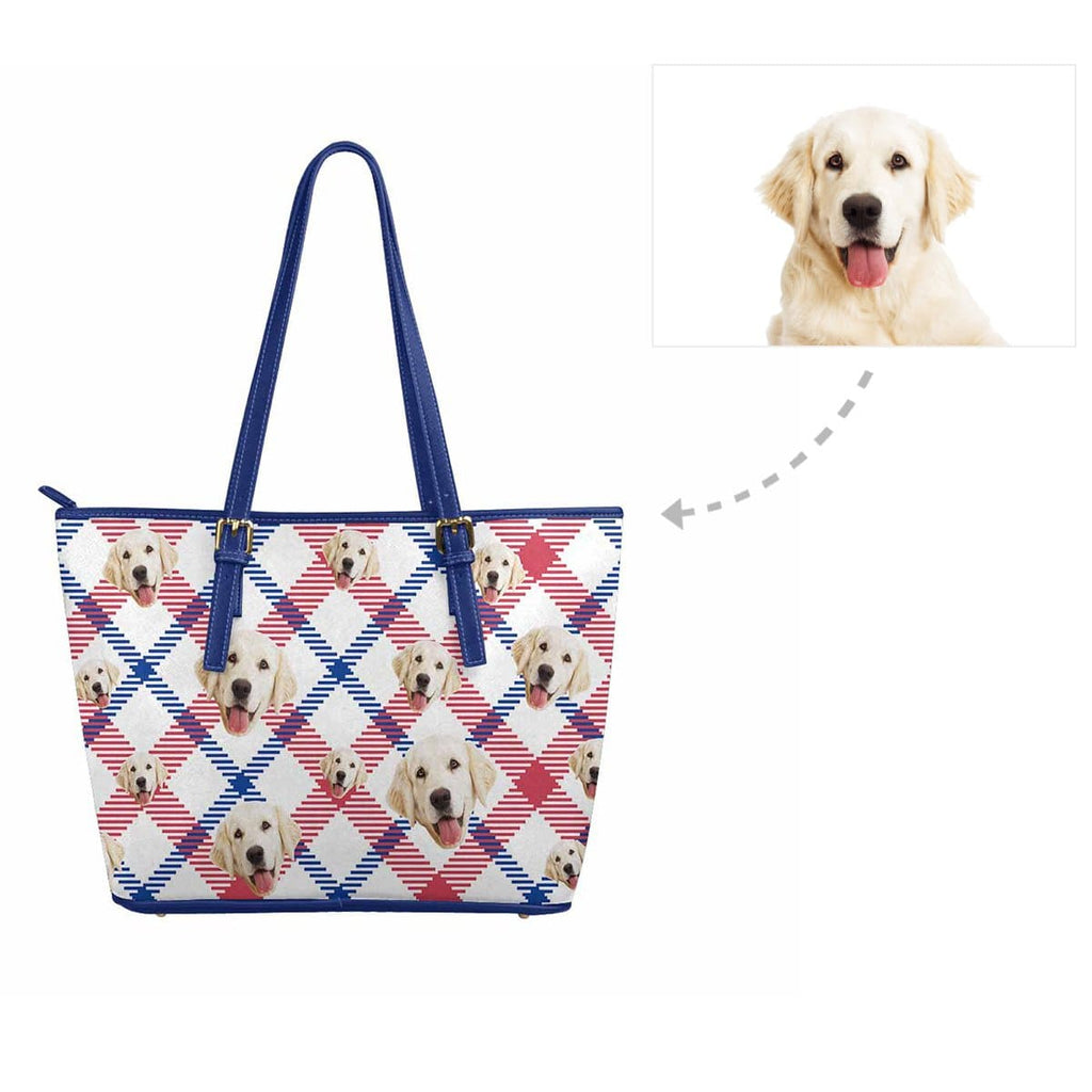 Custom Dog Scottish Tartan Women's Tote Bag