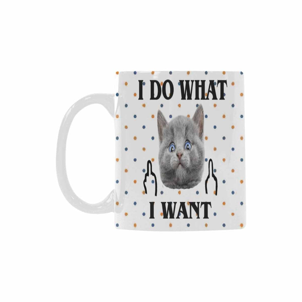 Custom Cute Cat Face Classical White Mug
