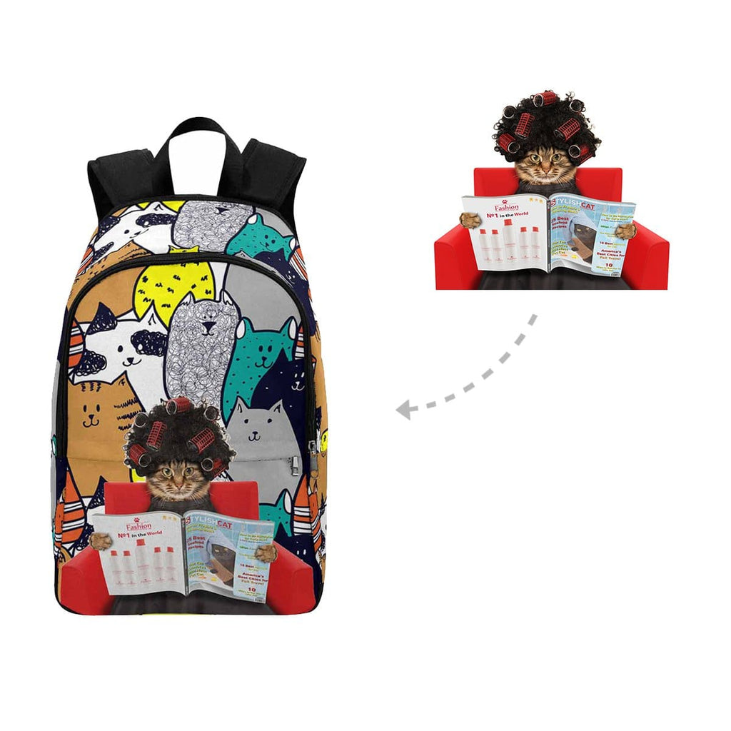 Custom Reading Cat Backpack