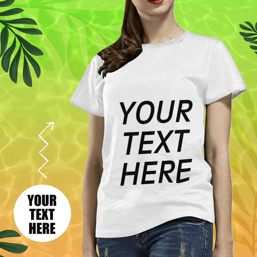 Custom Text Women's All Over Print T-shirt