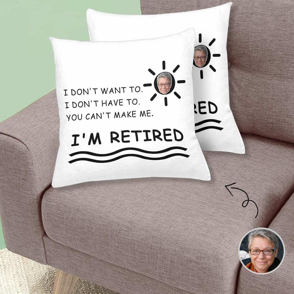 Custom Grandma Face Sun Retired Throw Pillow Cover