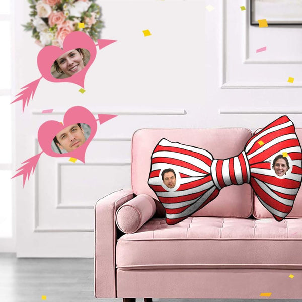 Custom Face Wedding Bowknot Shaped Pillow