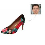 Custom Boyfriend Face Flower Women's Pumps