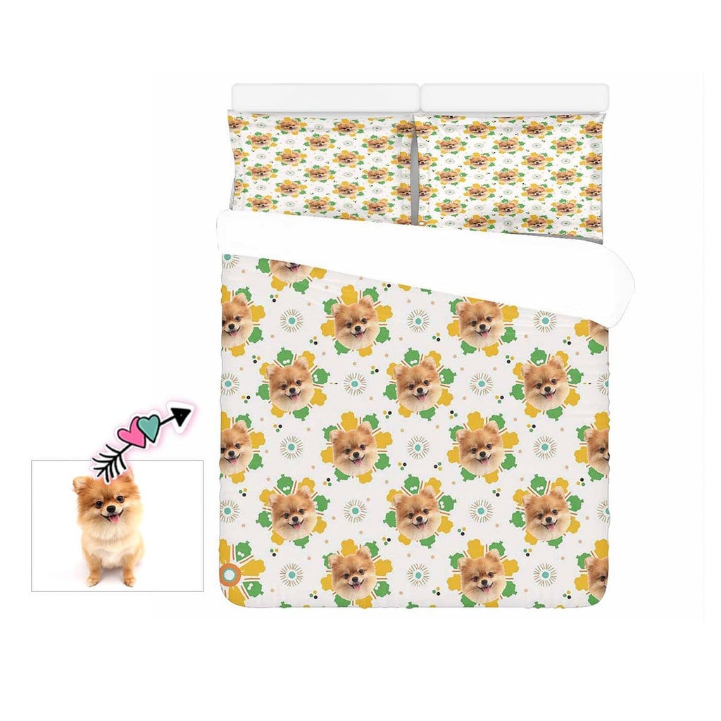 Custom Dog Face 3-Piece Bedding Set
