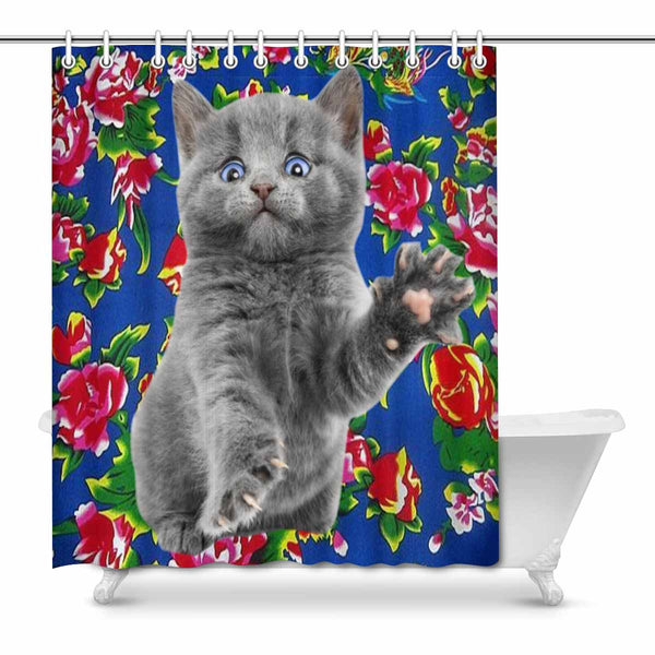 "Custom Cute Pet Shower Curtain 66""x72"""