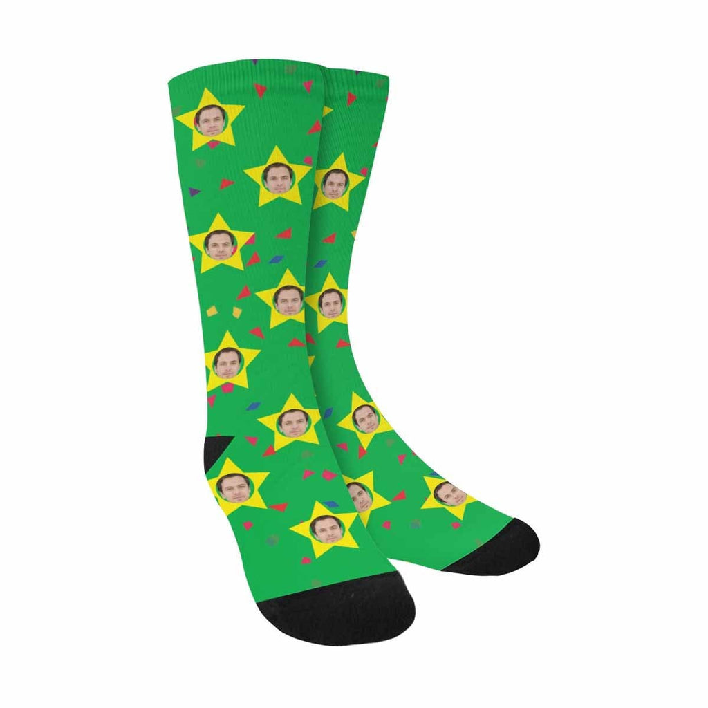 Custom Face  Pentagram Sublimated Crew Socks