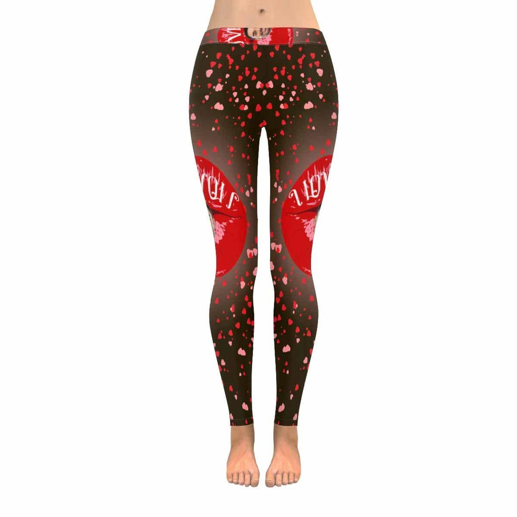 Custom Boyfriend Face Lips All-Over Low Rise Leggings