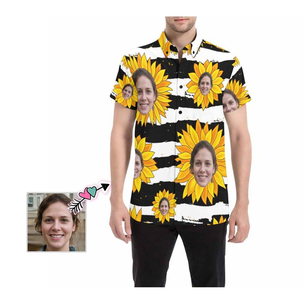 Custom Face Flower Men's All Over Print Shirt