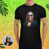 Custom Wife's Face Men's T-shirt