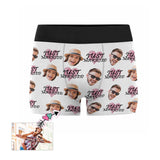 Custom Couple Just Married Men's Boxer Briefs