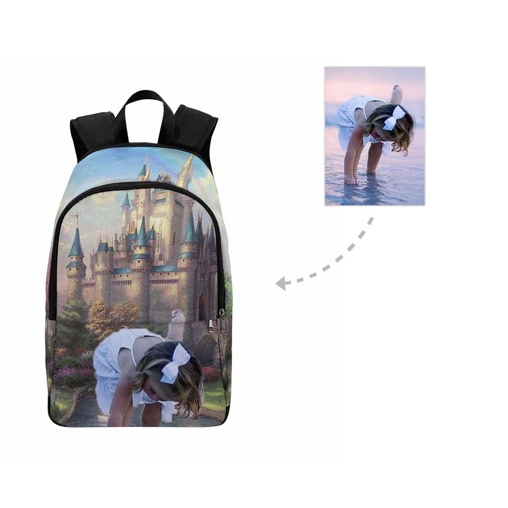 Custom Girl Face Fairy Tale Castle Backpack