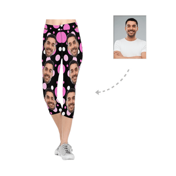 Custom Boyfriend Face Circle All-Over Low Rise Capri