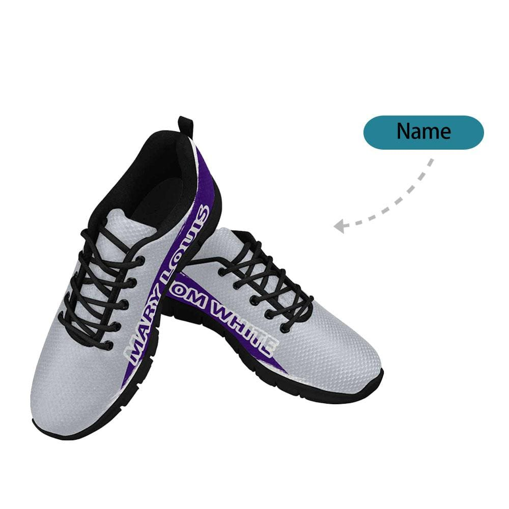 Custom Name Baseball Team Color Men's Breathable Sneakers
