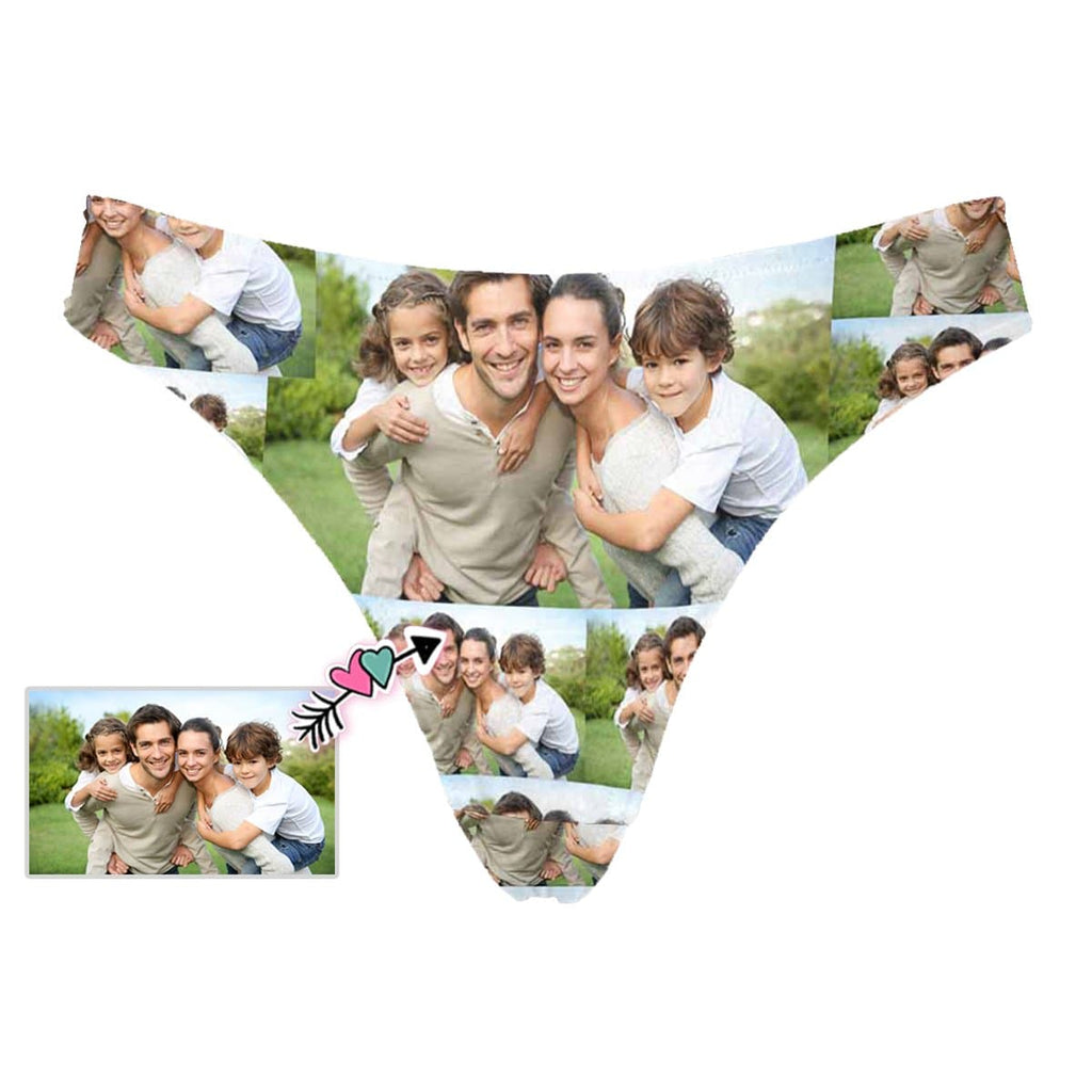 Custom Family Photo Women's Classic Thong
