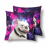Custom Galaxy Dog Throw Pillow Cover