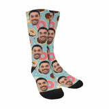 Custom Face Cute Donuts Sublimated Crew Socks