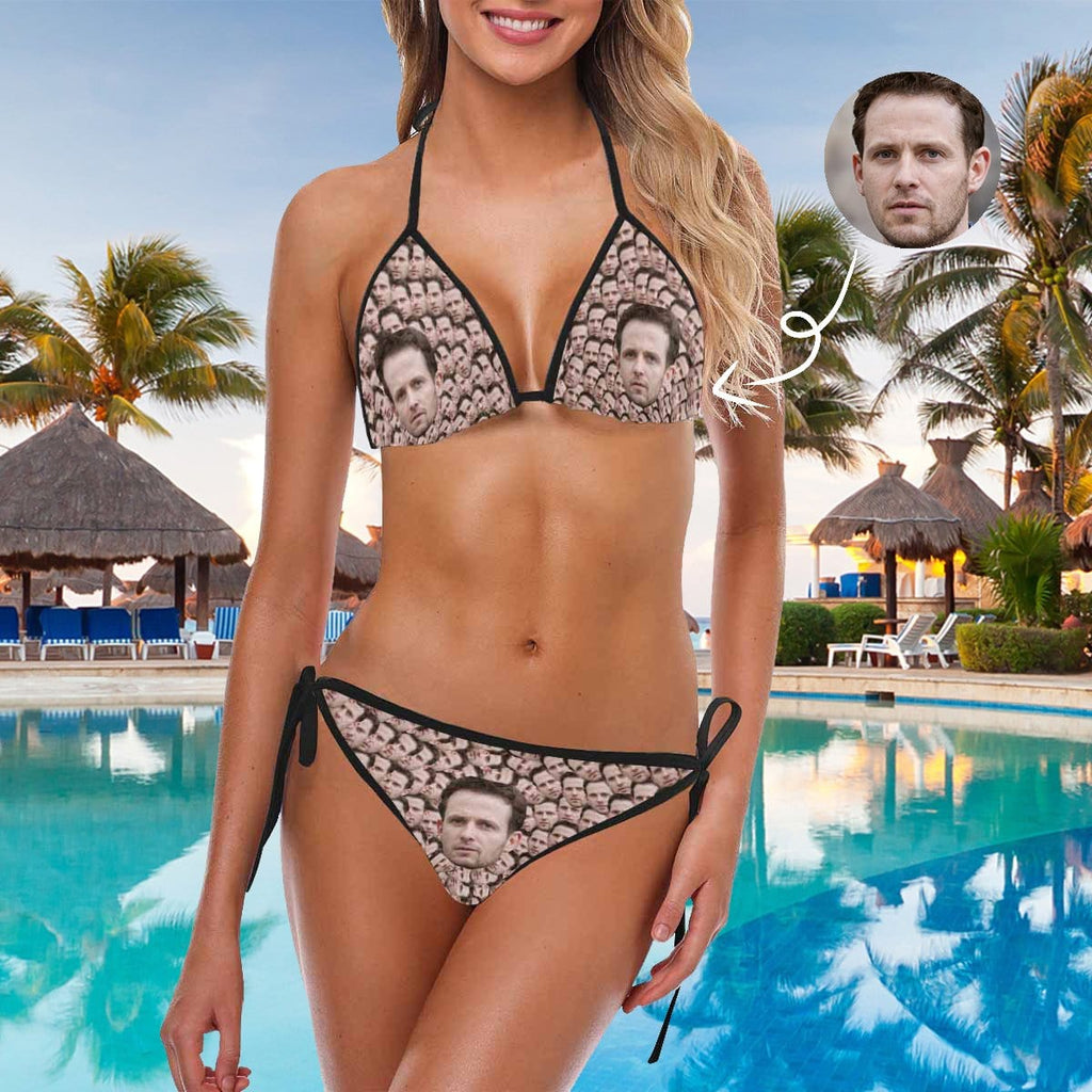 Custom Boyfriend Face Smash Bikini Swimsuit