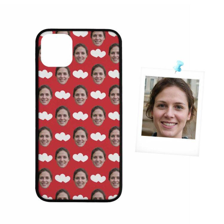 Custom Face Love Heart Rubber Case for Iphone
