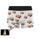 Custom Face Pup Men's All-Over Print Boxer Briefs