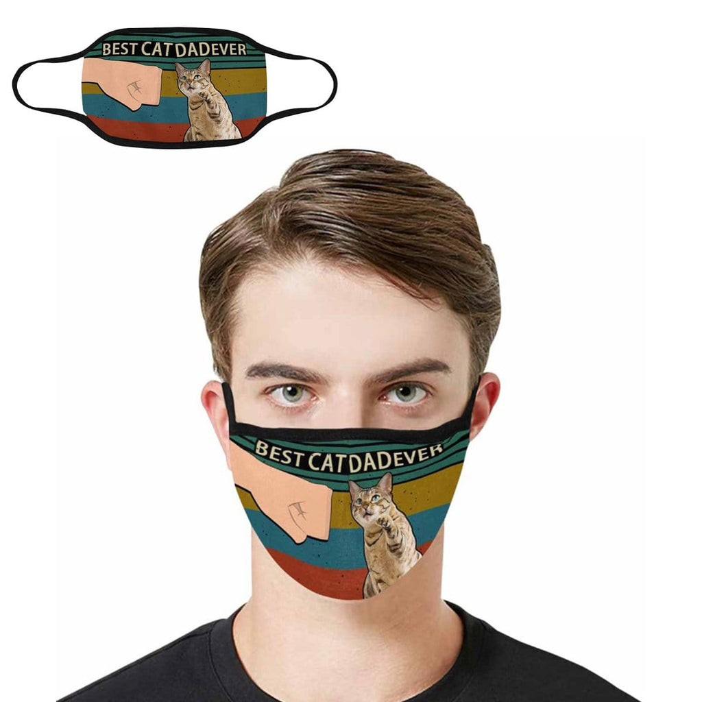 Best Cat Dad Ever Fabric Mouth Mask