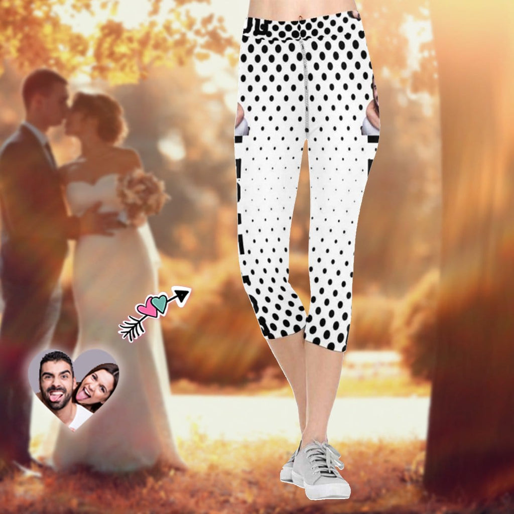 Custom Face Couple I Love You All-Over Low Rise Capri