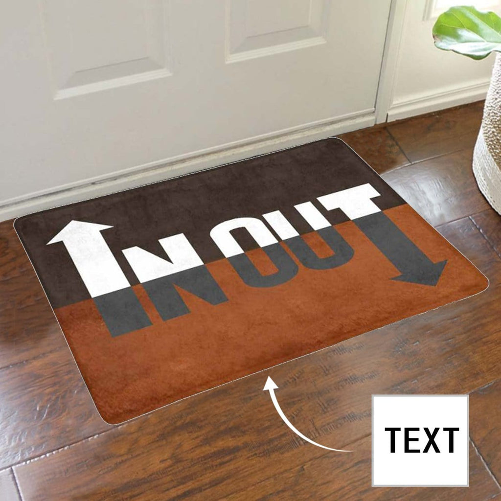 Custom Text In Out Doormat