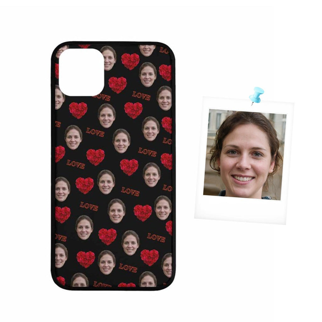 Custom Face Rose Love Rubber Case for Iphone