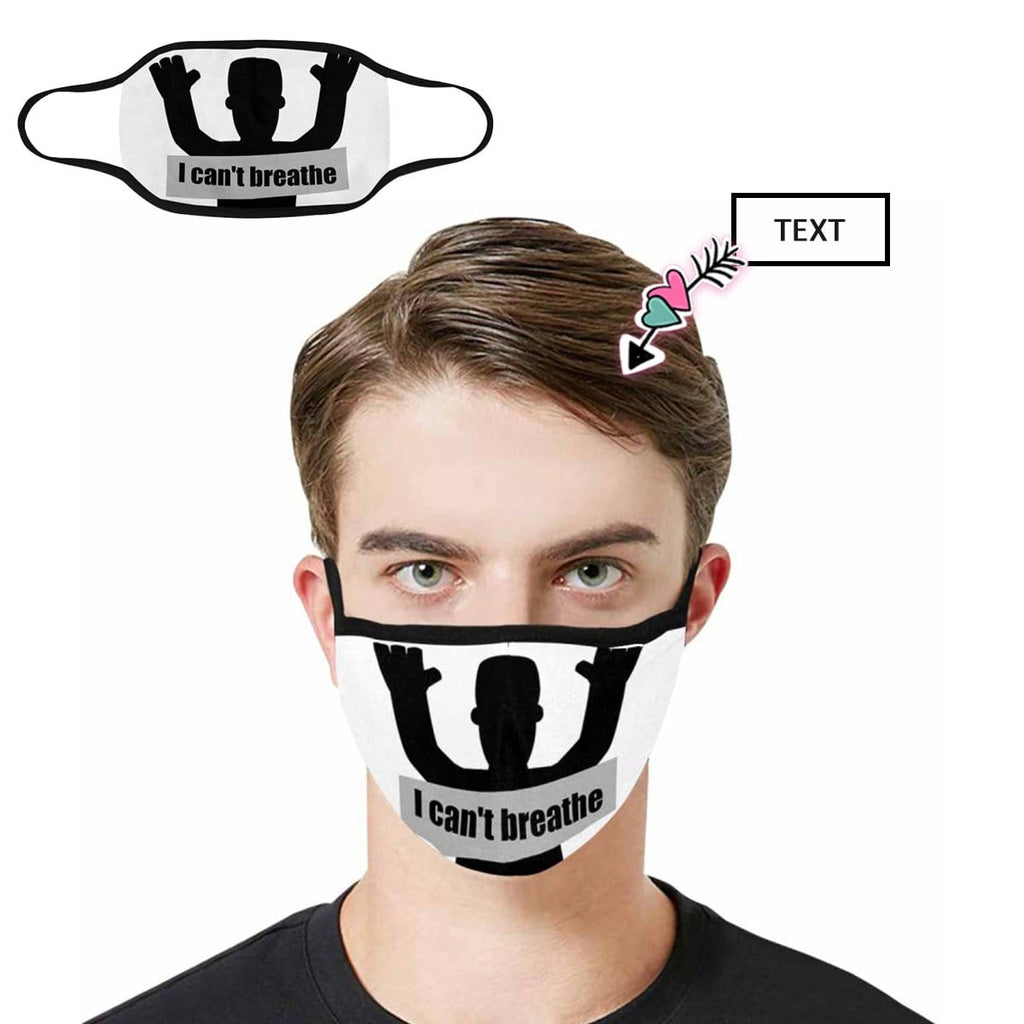 Custom Text Shadow Fabric Mouth Mask
