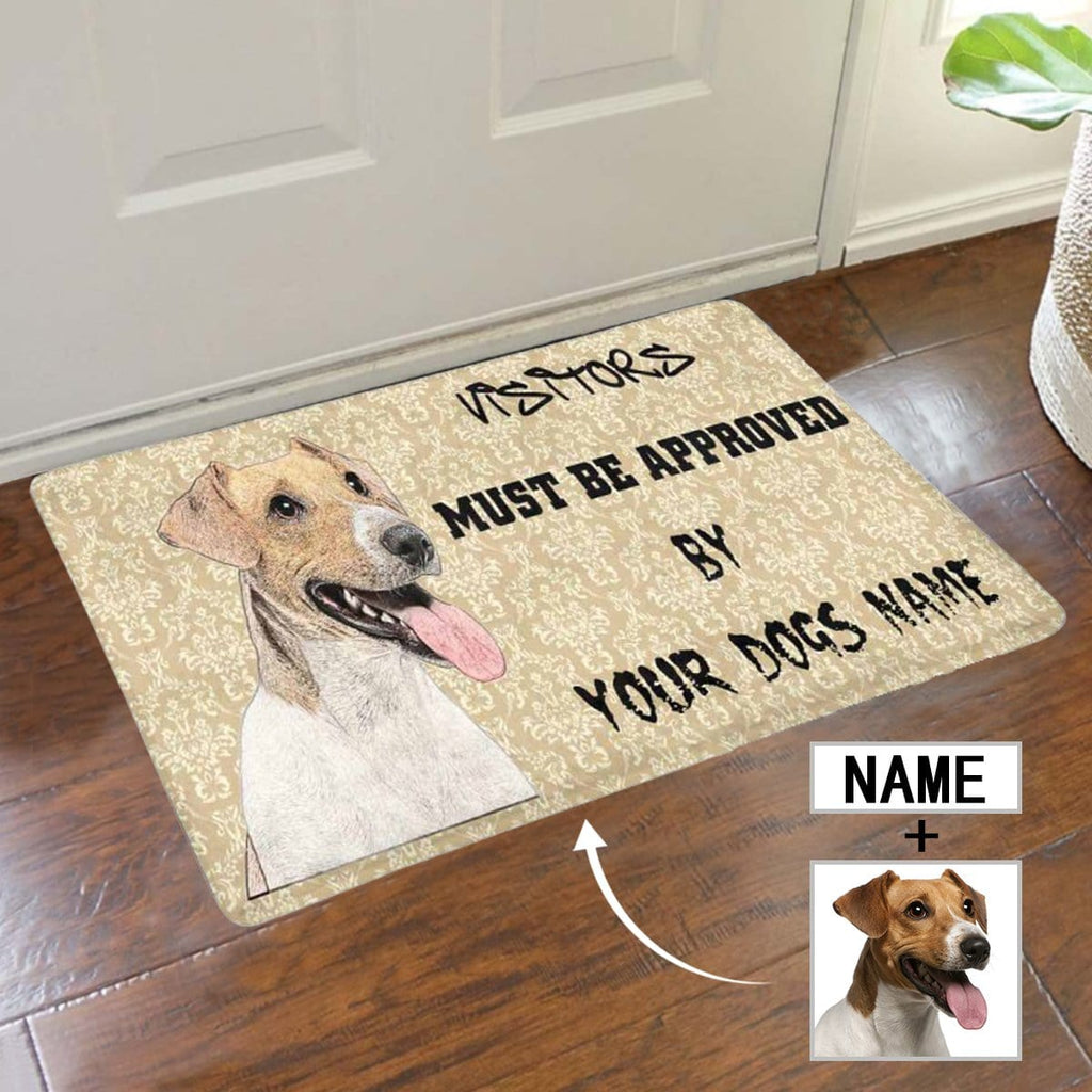 New Home Gift, Housewarming Gift for Home, Custom Dog Face and Name Doormat, Personalized New Doormats