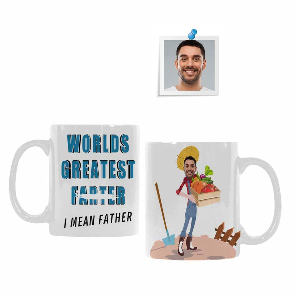 Custom Face Worlds Greatest Farter Classical White Mug