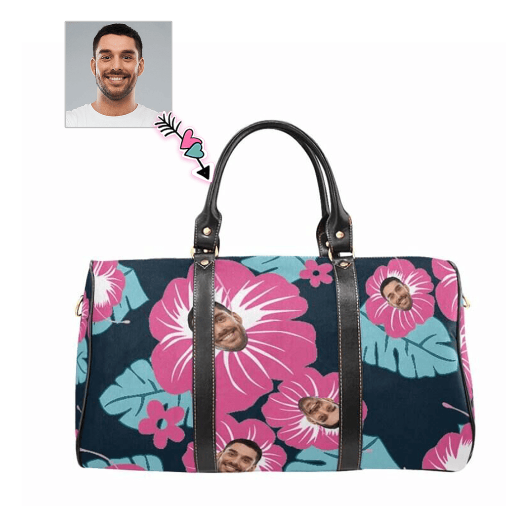 Custom Face Blooming Flowers Travel Bag
