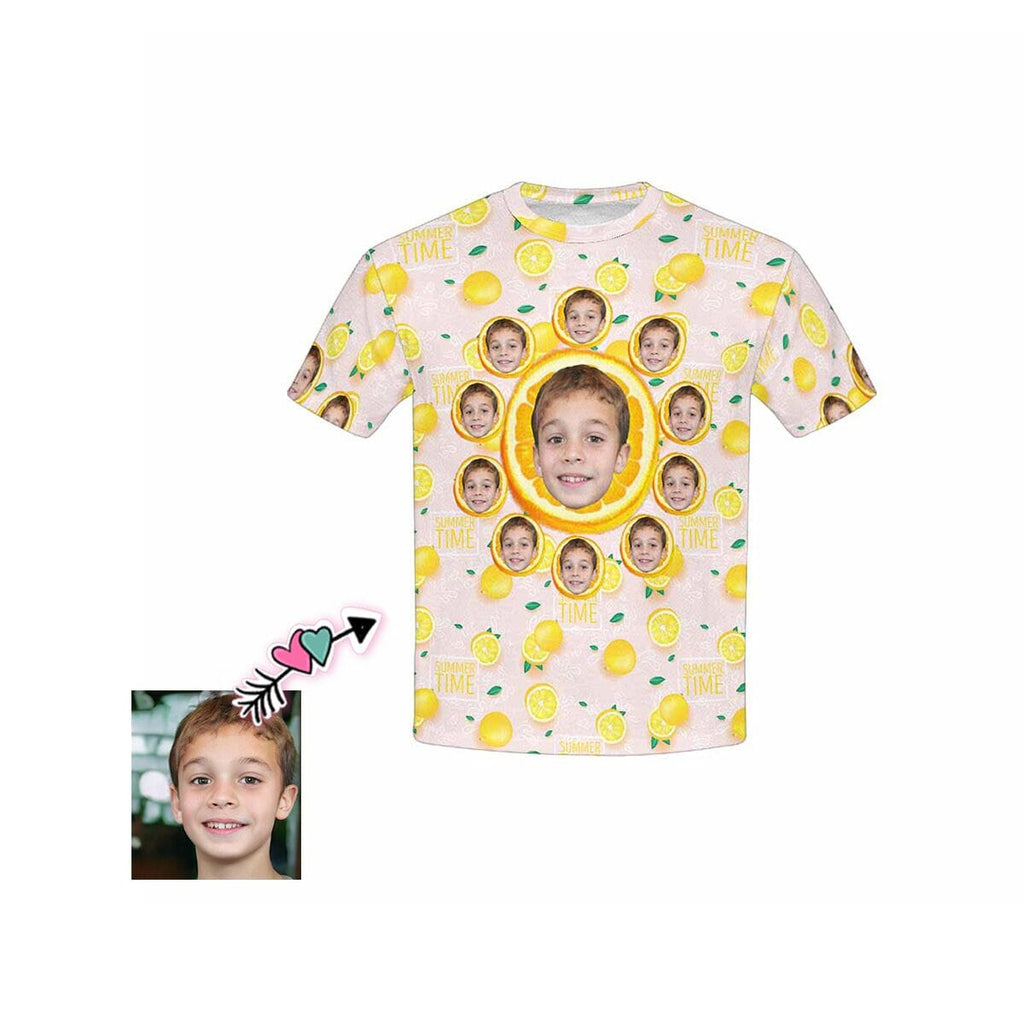 Custom Face Summer Time Kid's All Over Print T-Shirts