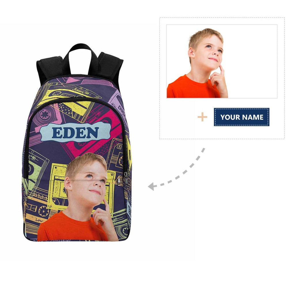 Custom Boy Face Music Tape Backpack