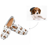 Custom Dog Paws and Bones Women's Casual Shoes