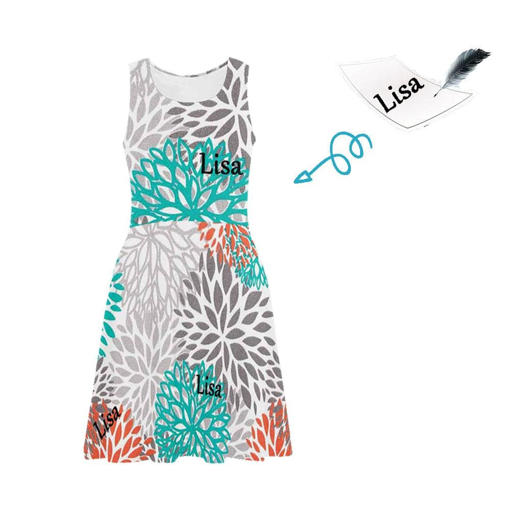 Custom Name Colorful Casual Sundress