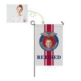 Custom Face Retired Nurse Garden Flag