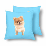 Custom Cartoon Dog Throw Pillow Cover