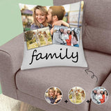 Custom Photo Family Throw Pillow Cover