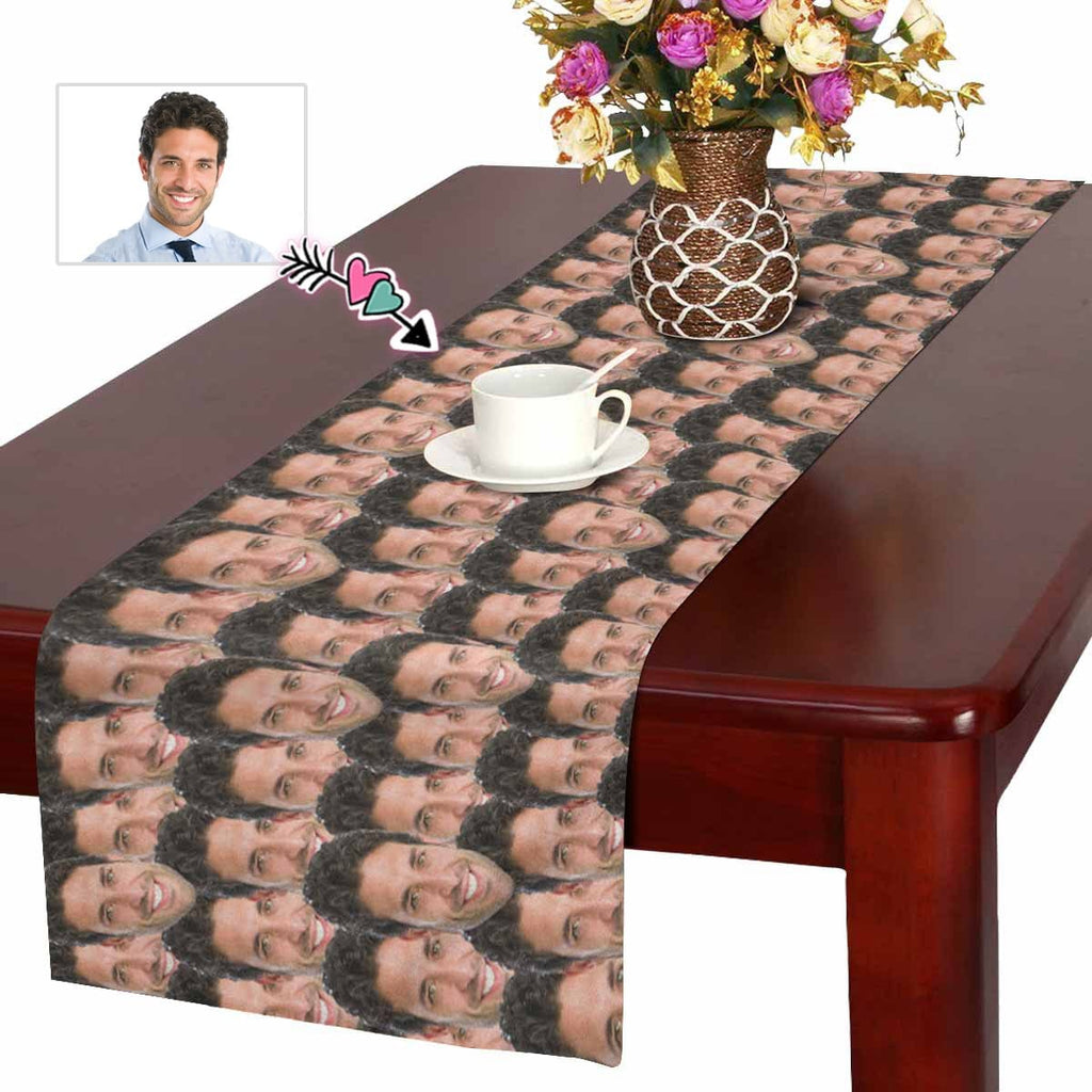 Custom Face Pattern Table Runner